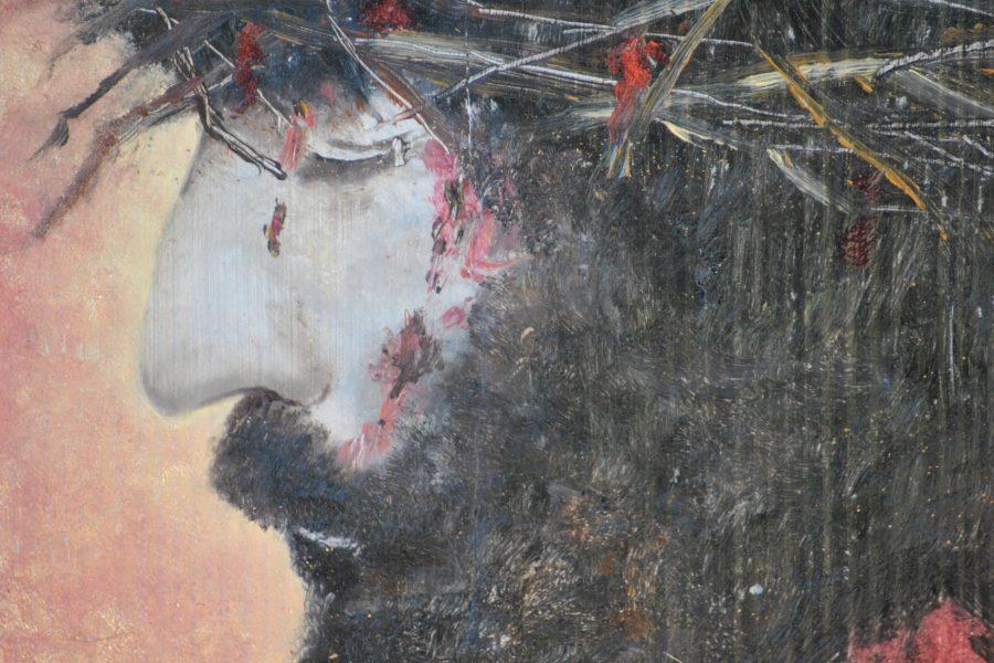 Cristo- olio su tavola- cm 23x31