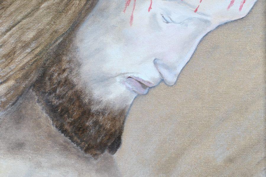 Cristo- olio su tela- cm 35x40
