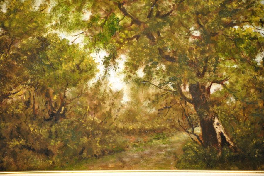 Nel bosco- olio su tavola- cm 55x30