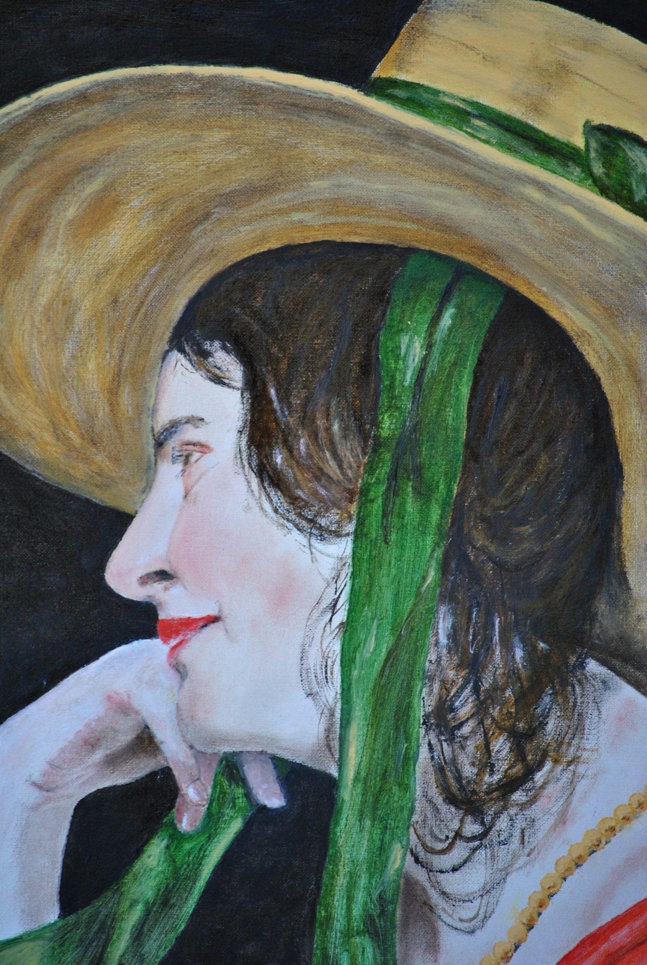 """""""il cappello di paglia"""" olio su tela cm 30×40"""