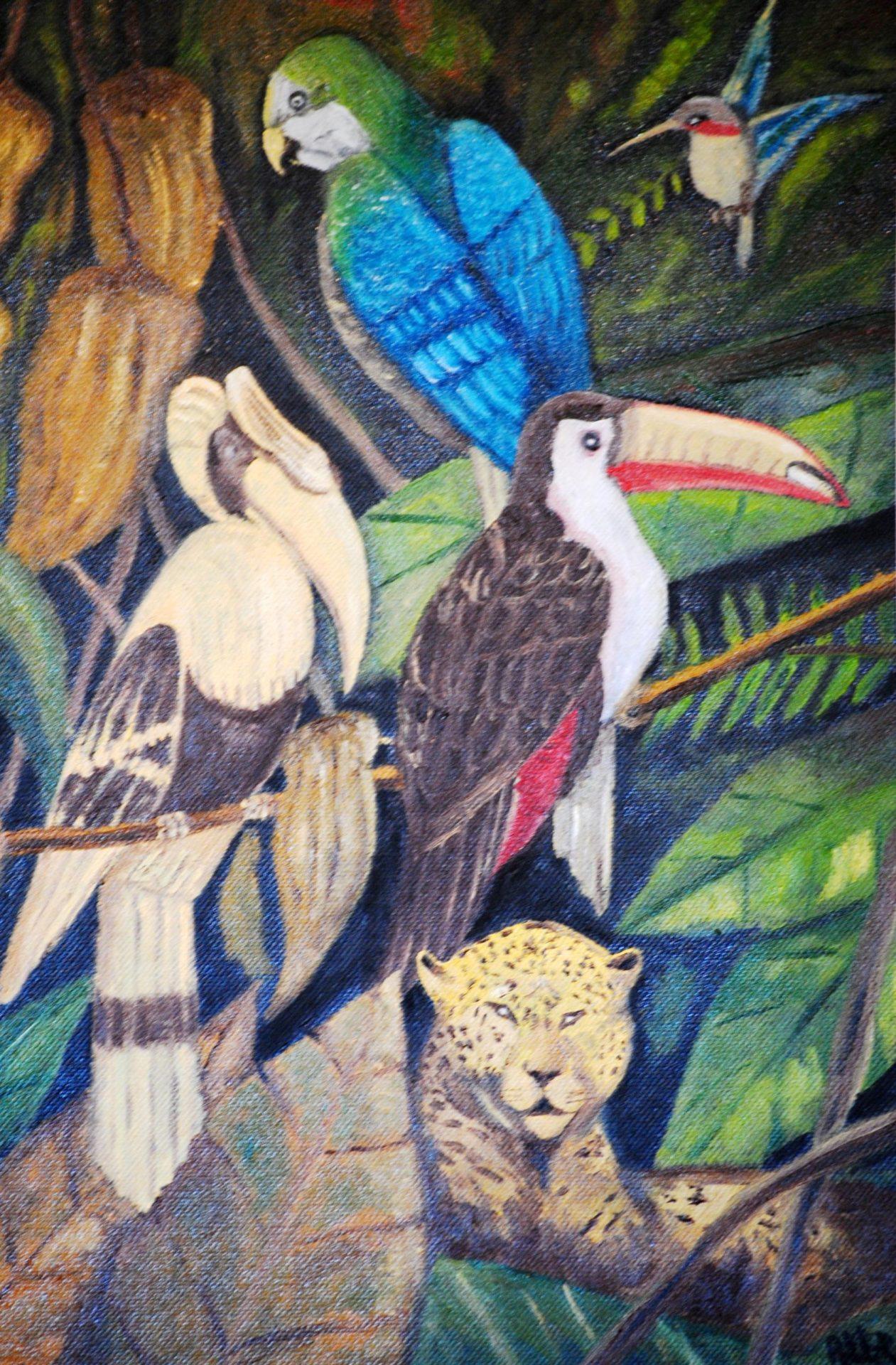 """""""Amazzonia"""" olio su tela cm 30×40"""