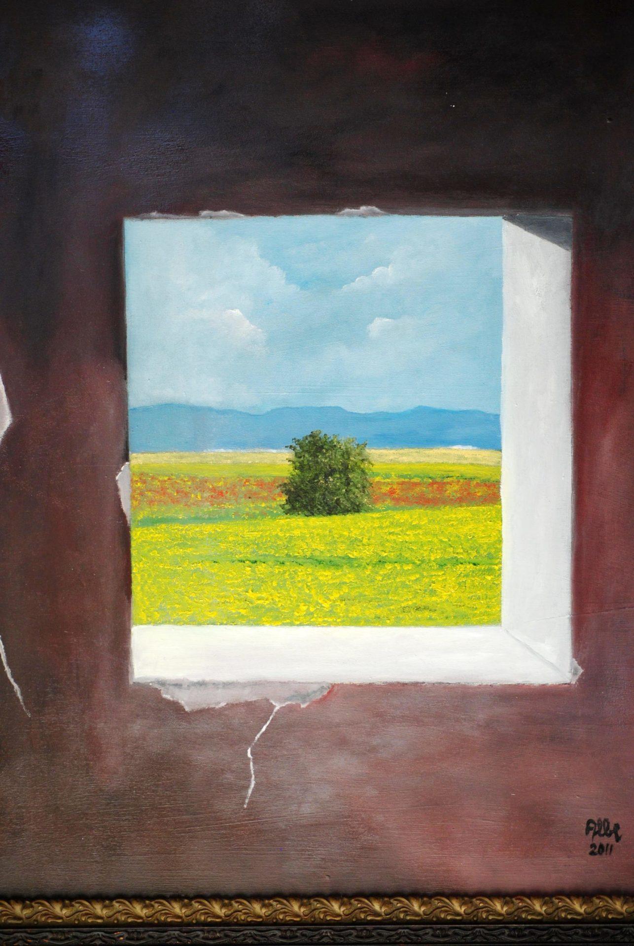 """Colza fiorita"" olio su tavola cm 50×60"