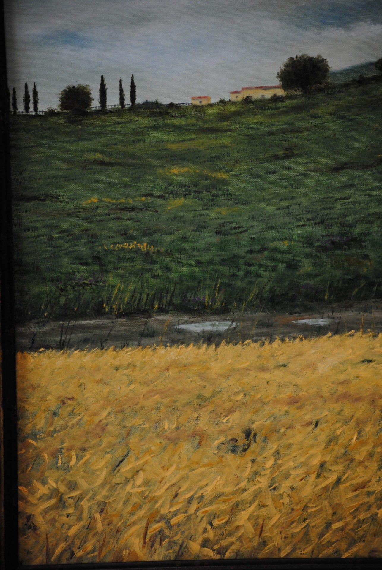 """Dopo la pioggia"" olio su tela cm 40×50"