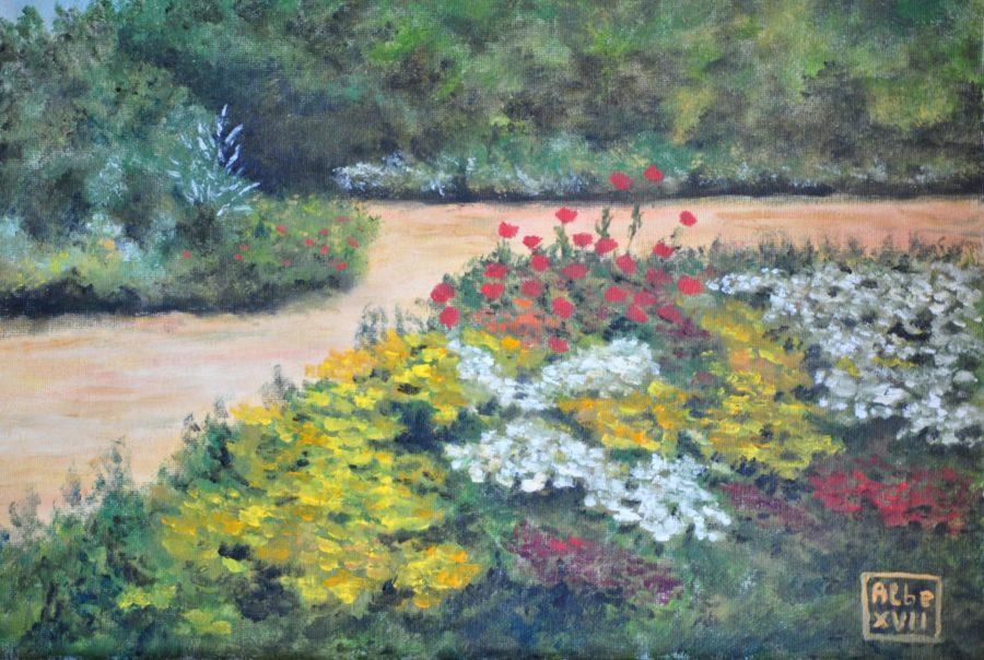 """Il giardino"" olio su tela cm 40×30"