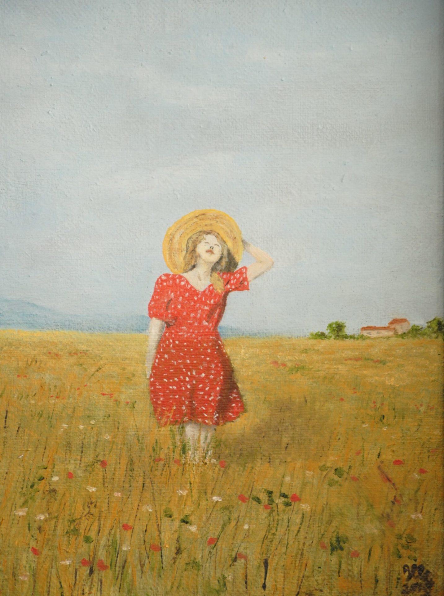 """En plein air"" olio su tela cm 30×40"