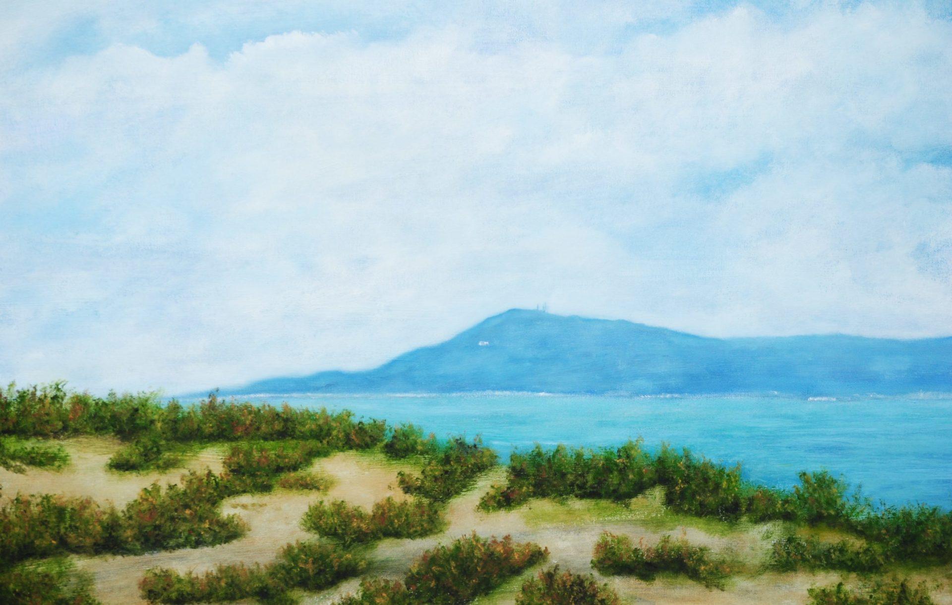 """""""Monte Argentario dall'Osa"""" olio su tela cm 100×50"""