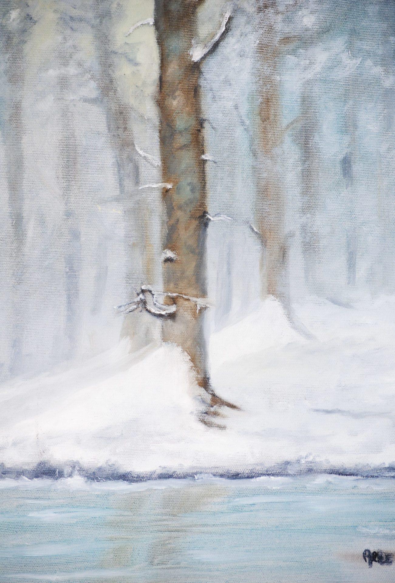 """""""Inverno"""" olio su tela cm 30×40"""