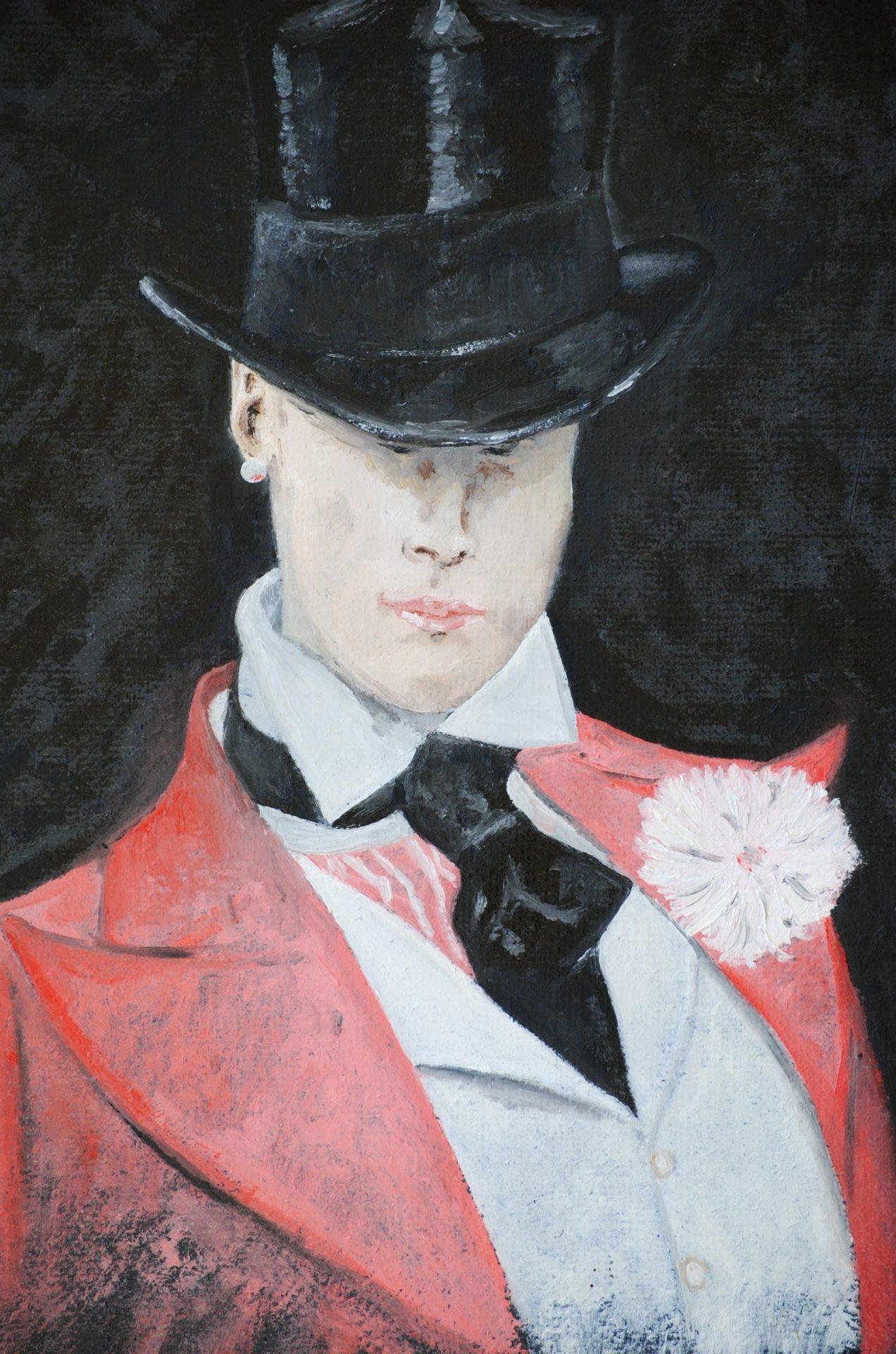 """""""La cravatta nera"""" oilo su tela cm 30×40"""