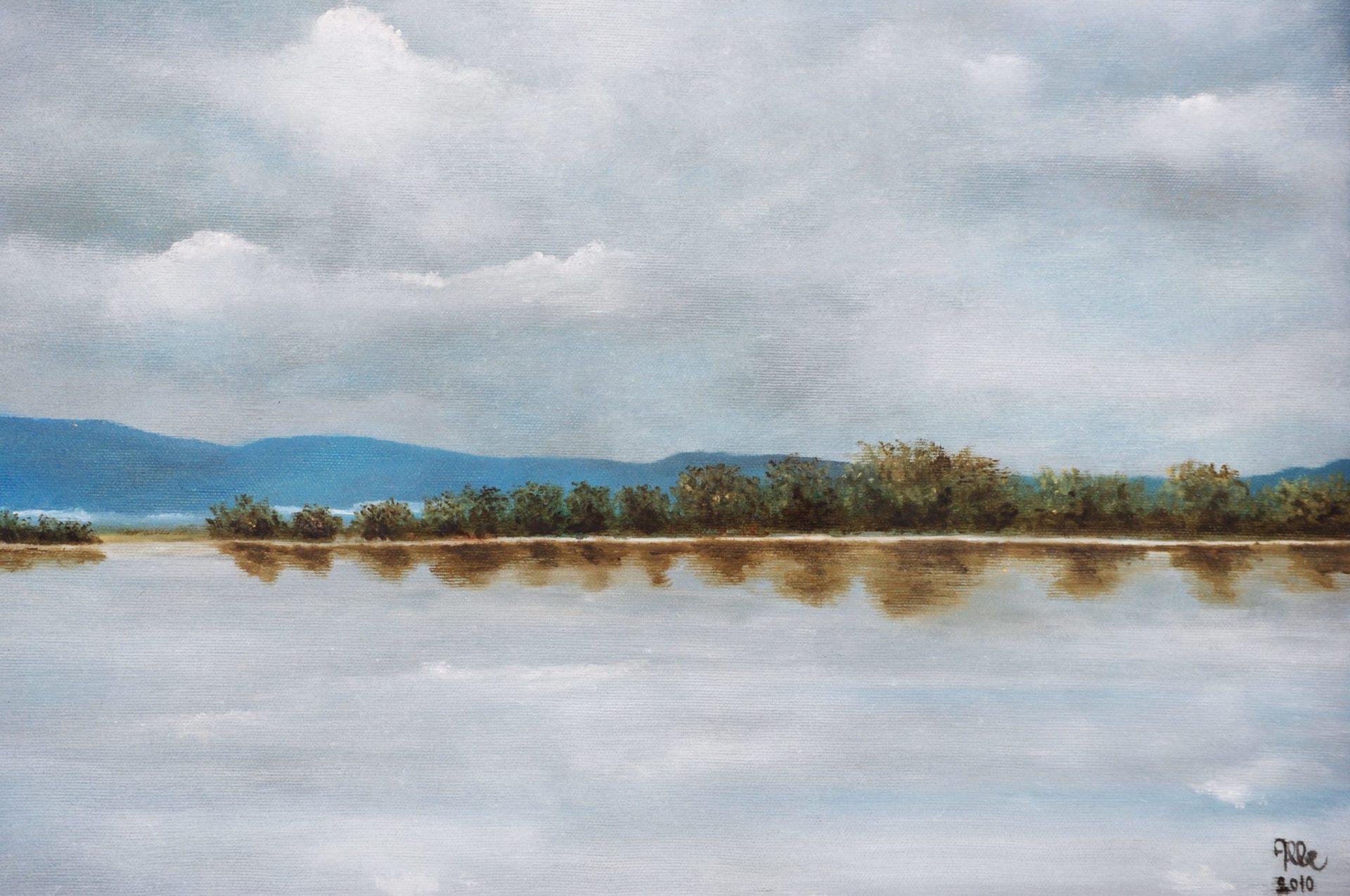 """""""Laguna"""" olio su tela cm 50×40"""