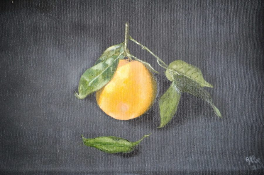 """""""L'arancia"""" olio su tela cm 40×30"""