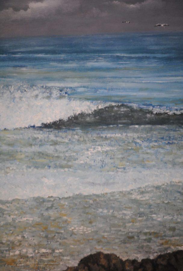 """""""L'onda"""" olio su tela cm 30×40"""