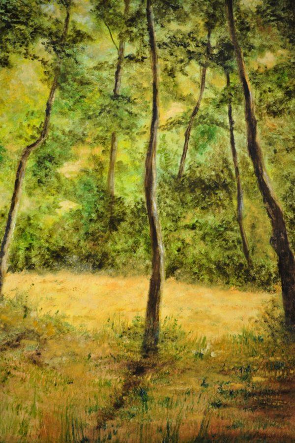"""Radura nel bosco"" olio su tela cm 30×40"