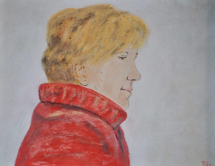"""""""Portrait de Maria Teresa"""" olio su tavola cm 30×24"""