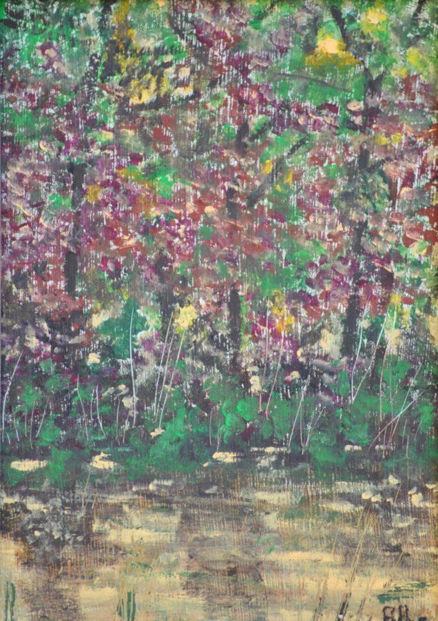 """""""Sprazzi di luce"""" olio su tavola cm 13×18"""